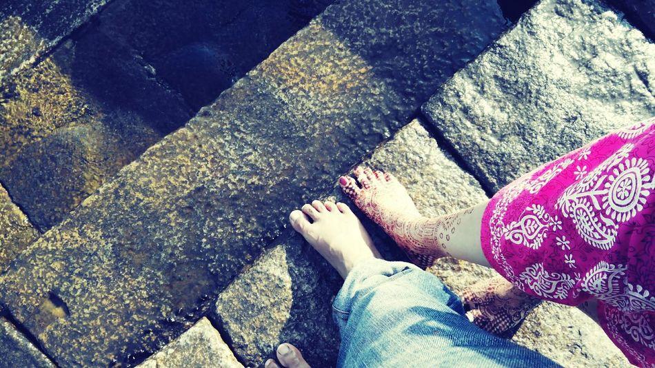 Barefoot First Eyeem Photo Kanyakumaari with My Better Half