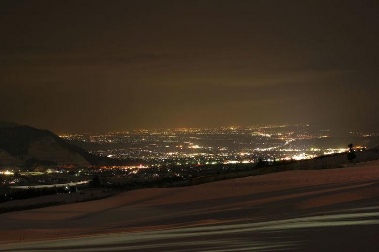 夜間瀬からの夜景 Night Sky Nature Landscape City Architecture Cityscape Night View Night Views Night View Of City