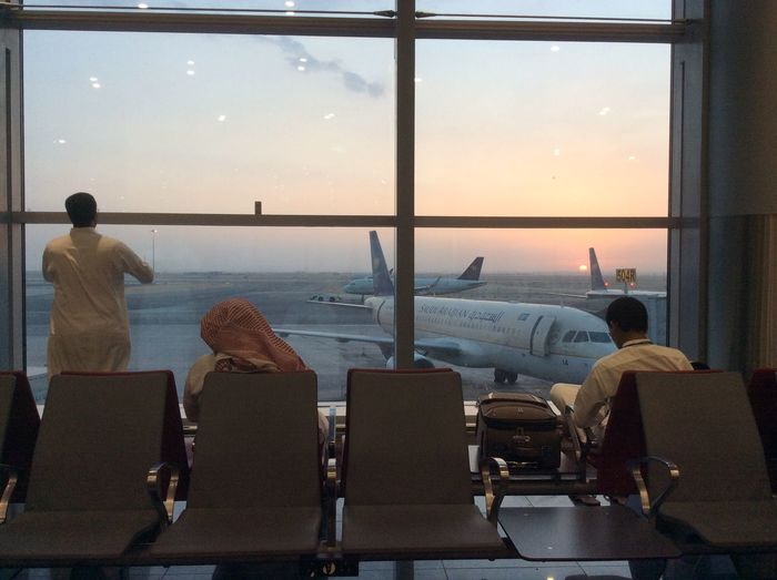 Sunrise at the Riyadh Domestic Airport Beautiful Sunrise A Window To The Sky No Women Original Transit Time Was 2 Hours Only The Sun Is Just A Single Dot The Sunrise Made My Day Transit For 7 Hours Victim Of The Previous Delayed Fligh