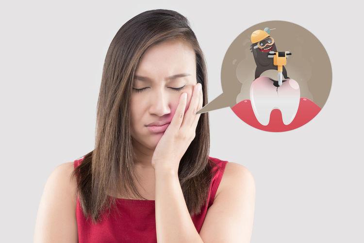 Toothache Women Ache Pain Cartoon Tooth
