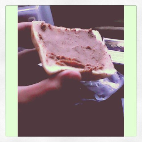 Thanks to my ChaosSociety Family for my makeshift Cake ! haha I'll never forget this! Liverspread Bread