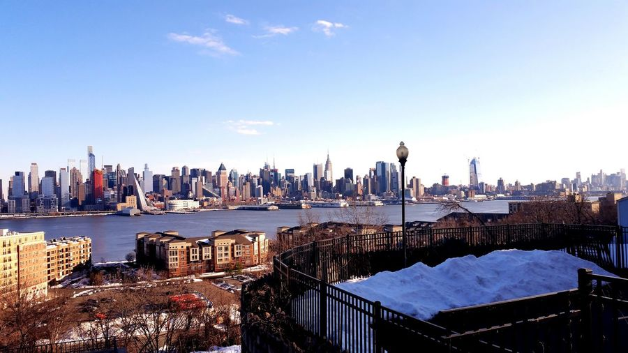 Winter NYC Riverview Hudson River New Jersey New York Nycskyline  NYC LIFE ♥