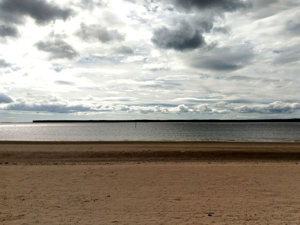 Beach Sand Water Coast Clouds Sky River Tay Dundee Broughty Ferry Fife  Tentsmuirforest