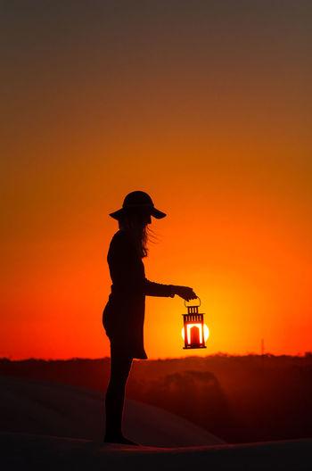 As the sun set