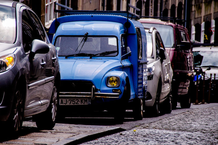 Architecture Blue Built Structure Car Day Land Vehicle Mode Of Transport No People Outdoors Stationary Transportation Done That. The Week On EyeEm Postcode Postcards