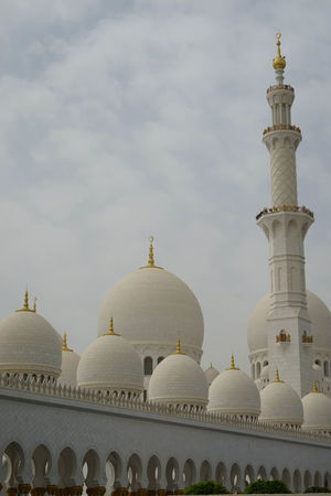 Sheikh Zayed Grand Mosque Architecture Built Structure Day Dome No People Outdoors Religion Sky Tourism Travel Destinations