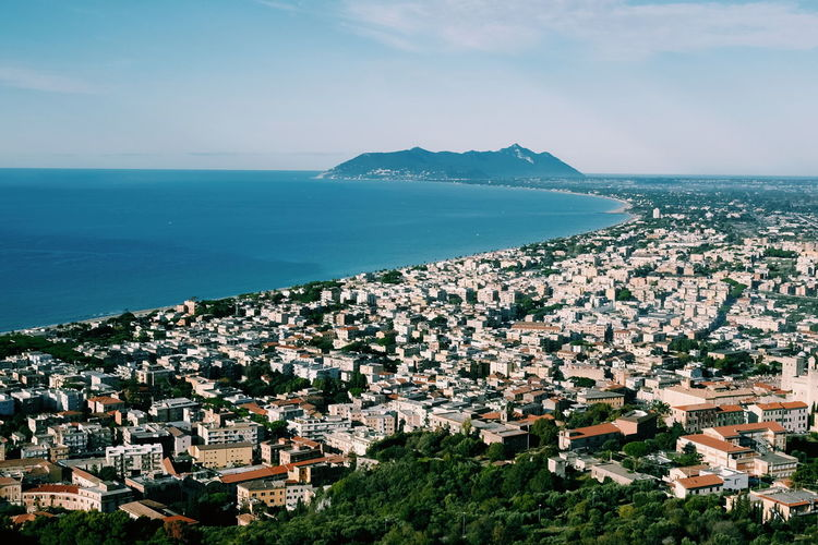 Circeo Architecture Beauty In Nature Building Exterior Built Structure City Cityscape Day High Angle View Horizon Over Water House Nature No People Outdoors Residential Building Scenics Sea Sky Town Water