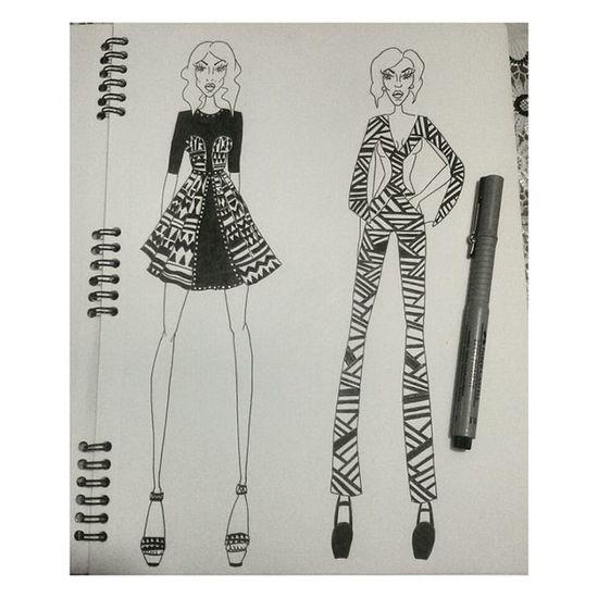 Fashionillustration OpticalArt Designer  Progettazione Haydenwilliam Schizzi ✒✒
