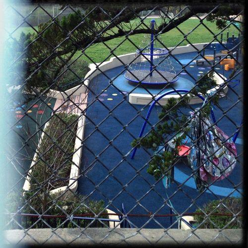 Playground from the Tenniscourt Thru The Fence Hipstamatic