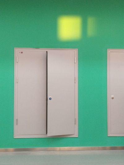 Close-up of open door of wardrobe
