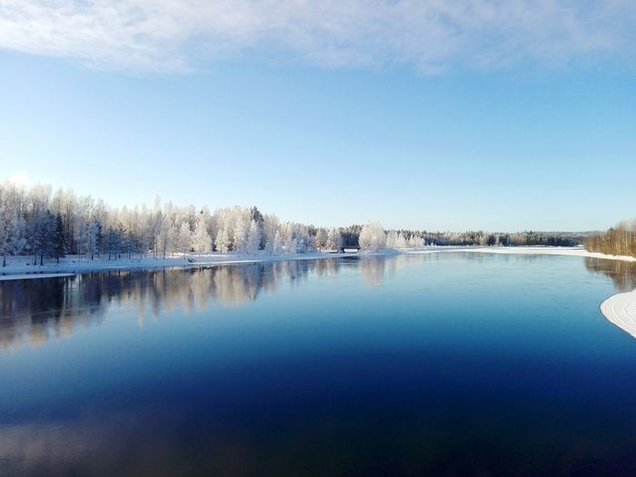 Beautiful lake Water Reflection Nature Outdoors Sky Beauty In Nature Day Photography Nature Photography Photographer Daytime Finnish Nature Landscape_photography Lake View Naturelovers Cold Temperature Snow ❄ Winter Landscape Winterwonderland Wintertime