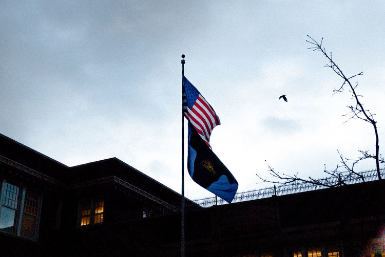 Flag Patriotism Low Angle View Sky No People Outdoors Day Nature Evening Portland Pdx Tranquility Wind Night Dark National EyeEmNewHere