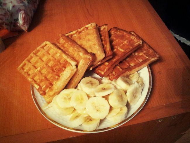 Bananas Banana Bananacake Bananas! Relaxing Food Cake Gofry Gofre