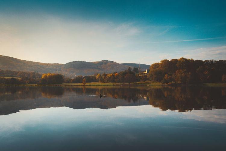 burgandy - France - 2016 ©sebastien.rossi Bourgogne France Burgandy Cloud - Sky Lake Landscape Reflection Sky Symmetry Water
