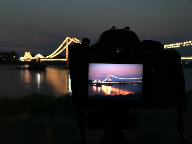 200 year Rattanakosin Sompoch bridge in Tak, Thailand Beauty In Night Built Structure Beautiful Thiland Camera Romantic Night Sky Architecture Bridge Built Structure Water Silhouette River Tourism Travel Dark No People Bridge - Man Made Structure Suspension Bridge Travel Destinations