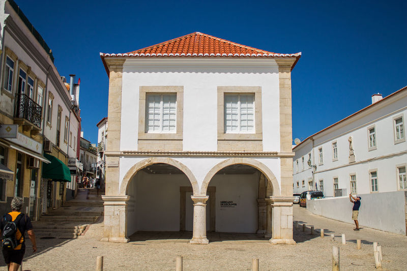 Algarve Architecture Blue Built Structure City Day Historic Lagos Mercado De Esclavos No Clouds Outdoors Pasado Pastel Power Portugal Sklavenmarkt Sky Slave Market Summer Sunlight Sunny Vergangenheit