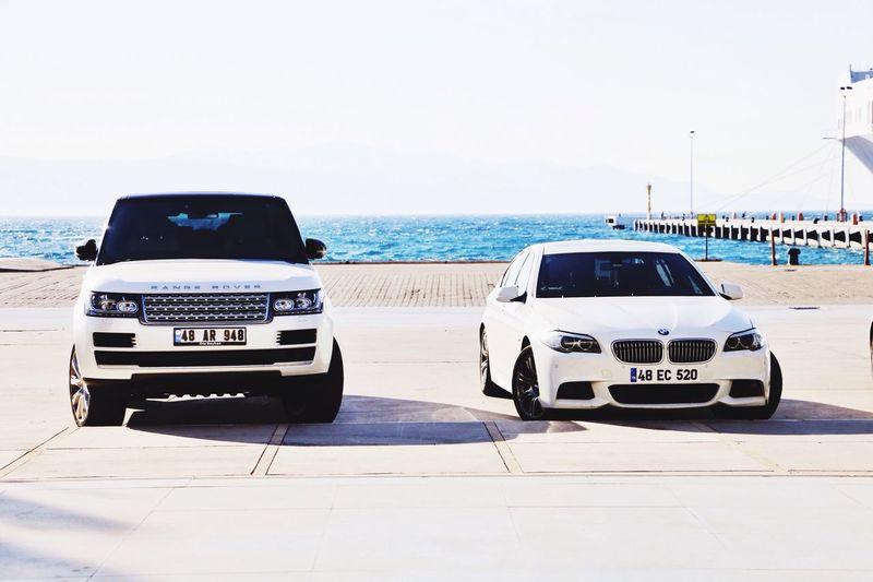 Range Rover Bmw Sea Clear Sky