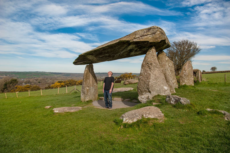 Adult Archeology Cloud - Sky Day Full Length Laughing Nature Neolithic Outdoors Pentre Ifan Buri Pentre Ifan Burial Chamber Stone Wales Wales UK Walking Break The Mold TCPM The Great Outdoors - 2017 EyeEm Awards Lost In The Landscape Second Acts