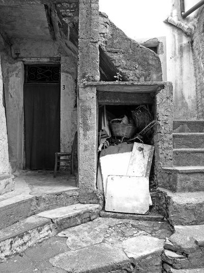 Glimpse of old town Black & White Italia Old Town South Italy Stairs Steps Abandoned Architecture Bad Condition Black And White Black And White Photography Building Exterior Built Structure Calabria Damaged Door Glimpse No People Old Old Ruin Run-down Verbicaro