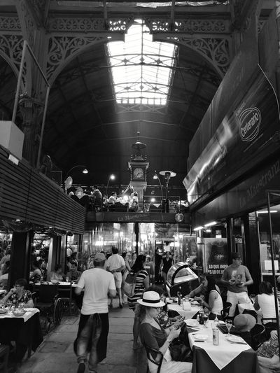 Montevideo market Blackandwhite Blancoynegro EyeEm Best Shots EyeEm Best Shots The Week On EyeEm Landscape_Collection Indoors  Adults Only People Adult Men Market Retail  Standing Only Men Real People Architecture One Man Only Day One Person
