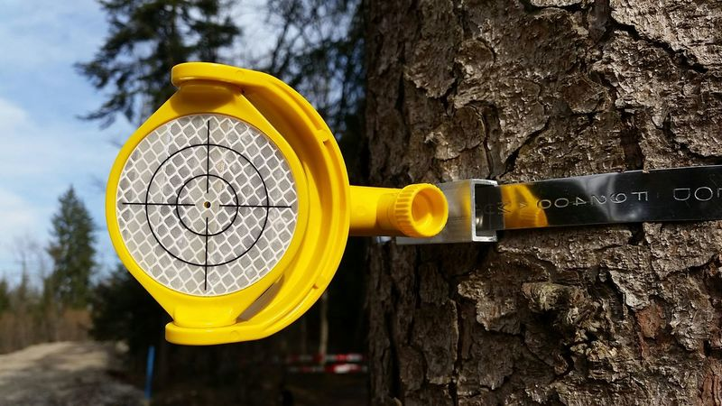 Measurement Measurement Point Messpunkt Raumvermessung Vermessung Fadenkreuz Wald Forest Crosshairs