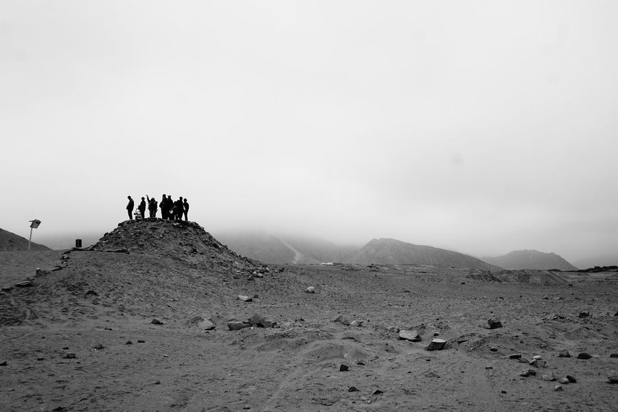 Breathing Space Caral Perú EyeEmNewHere Fresh Air Individuality Tourist Black And White Foggy Day Sheep Herding Special View