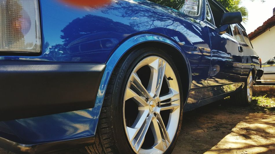 Followtofollow Likeforlike Brasil EyeEmNewHere EyeEm Selects Car Tire Wheel No People Day Close-up Brazil Like For Like Follow To Follow Opala Chevy Classic Cars Classic Car Show Transportation Stationary Blue Old-fashioned