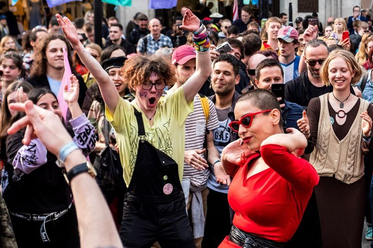 Extinction Rebellion Protest Extinction Rebellion Crowd Large Group Of People Group Of People Real People Event Celebration Exploring Fun