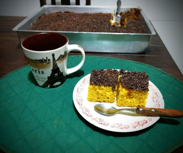Tea time in Brazil Cake♥ Carrots Cake Eyeemmarket Chocolate Cakes DeliciousFood  Love Is Love Drink Plate Tea - Hot Drink Sweet Pie Table Cake Dessert Saucer Coffee - Drink Close-up