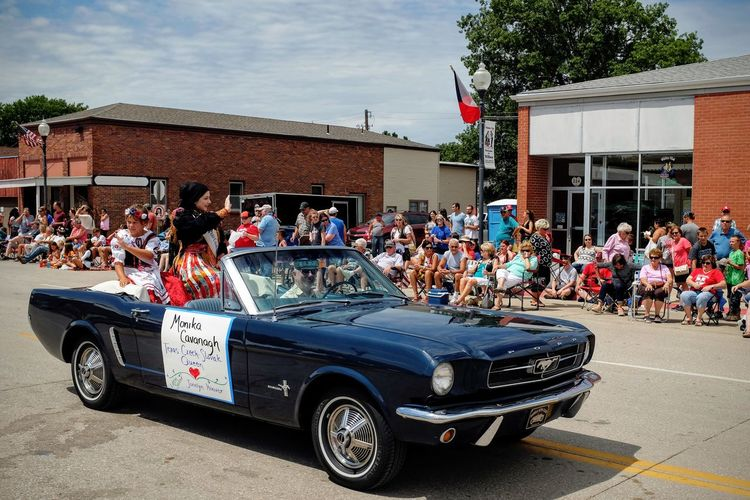 55th Annual National Czech Festival August 5, 2016 Wilber, Nebraska Automobile Celebrate Your Ride Check This Out Classic Car Color Photography Crowd Czech Days Czech Festival Czechgirl Event Ford Mustang Large Group Of People Lifestyles Main Street USA Midday Sunlight Mustang Nebraska Outdoors Parade Smal Town USA Street Traditional Clothing Traditional Costume Traditional Culture Wilber, Nebraska