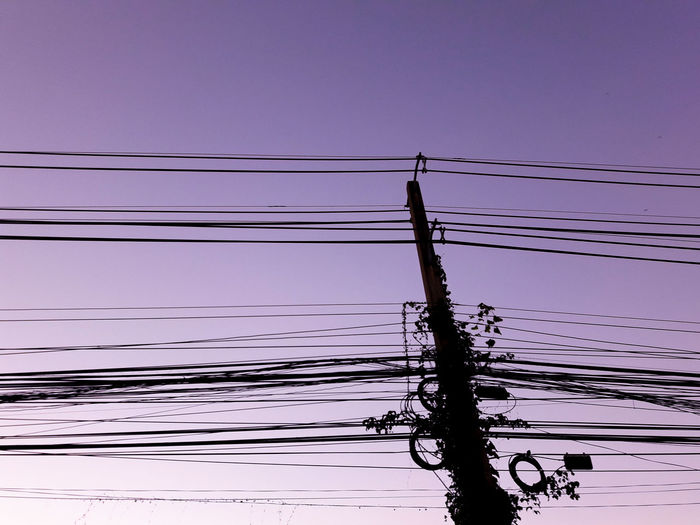 Let's morning the night! 😂😂😂 Cable Power Supply Electricity  Connection Power Line  Electricity Pylon Fuel And Power Generation Reflection Sky Outdoors No People Silhouette Sunset Nature Beauty In Nature Telephone Line Day Purple Sunset Multiplicity Multiple Cables Udonthani Thailand