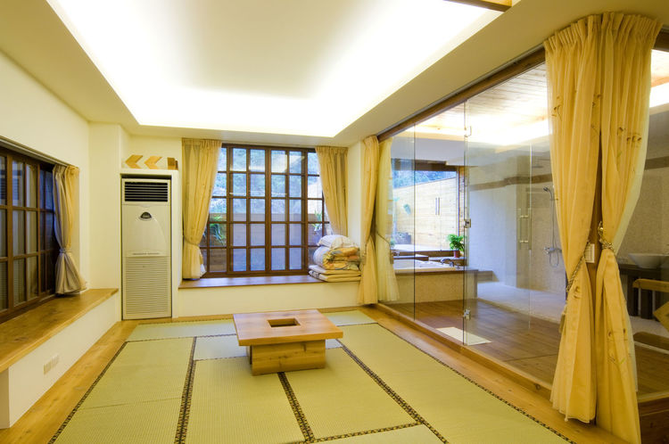 Day room space architectural design, beautiful simple, a life to enjoy Beautiful Elegant Home Japanese-style Lifestyle Room Architecture Building Built Structure Comfortable Day Decoration Home Interior Indoor Indoors  Interior Design Luxury No People Simple Straw Mat Window
