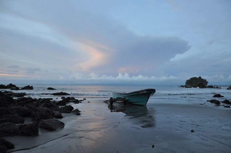 Beach Beauty In Nature Boat Choco Cloud - Sky Colombia Dramatic Sky Endless Harmony Harmony With Nature Horizon Over Water Nature Nuquí Outdoors Pacific Ocean Reflection Sand Sea Sky South America Travel Water