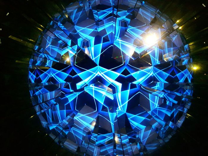 Blue effect Illuminated Night Symmetry Architecture Indoors  Electricity  Futuristic Space Galaxy Astronomy Beauty In Nature Hewelianum