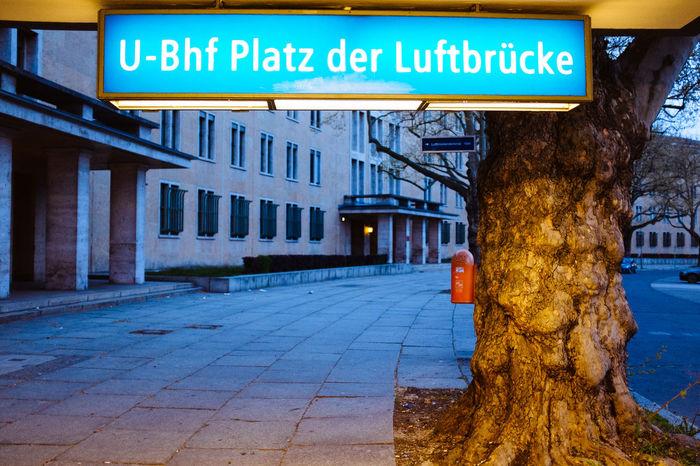 Berlin Blue Hour Bvg Cityscapes Melancholy Platz Der Luftbrücke U-Bahn