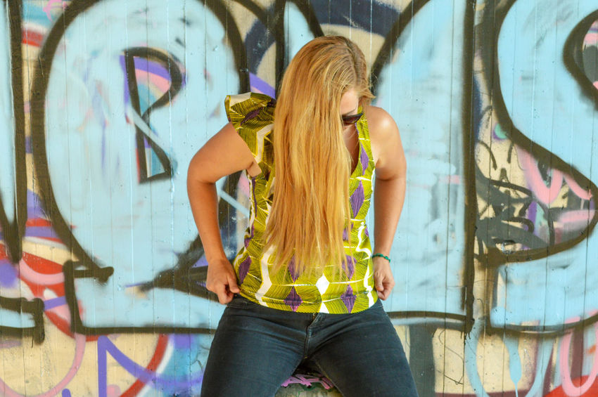 Urban Scene Urbanphotography Street Streetphotography Street Scene Graffiti Young Women Portrait Youth Culture Beautiful Woman Fashion Arts Culture And Entertainment Street Art Women Beauty Spray Paint Mural Graffiti Hip Hop Aerosol Can Urban Fashion Jungle