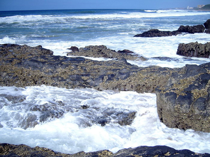 South Coast, Natal ~ Beach Beauty In Nature Crashing Waves  Day Horizon Over Water Natal Nature No People Outdoors Reef Rock Formation Scenics Sea Sky South Africa Tide Coming In Tranquility Water Wave