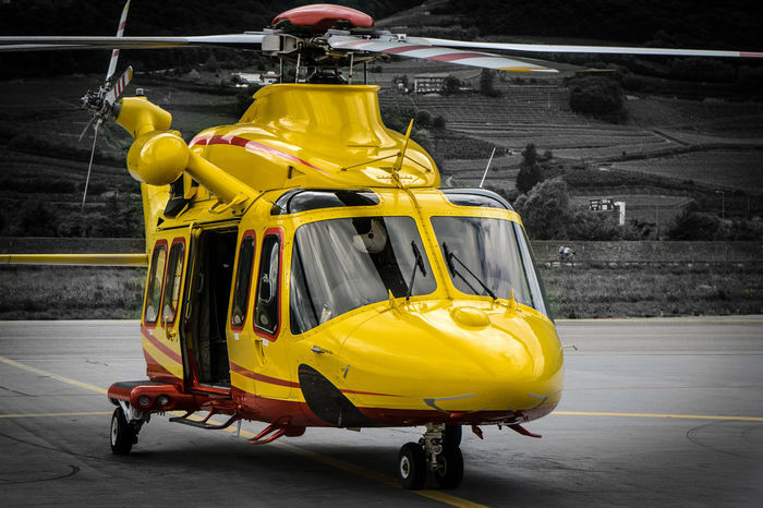 Air Aircraft Aviation Avion Aviones Day Eurocopter Helicopter Helmet Land Vehicle Mode Of Transport No People Outdoors Rescue Transportation Yellow