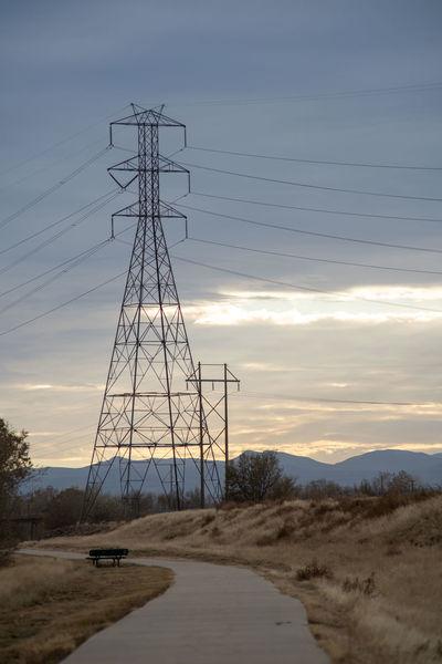 Electricity  Power Line  Sky Land Sunset Nature No People Colorado Denver Hiking Walking Path