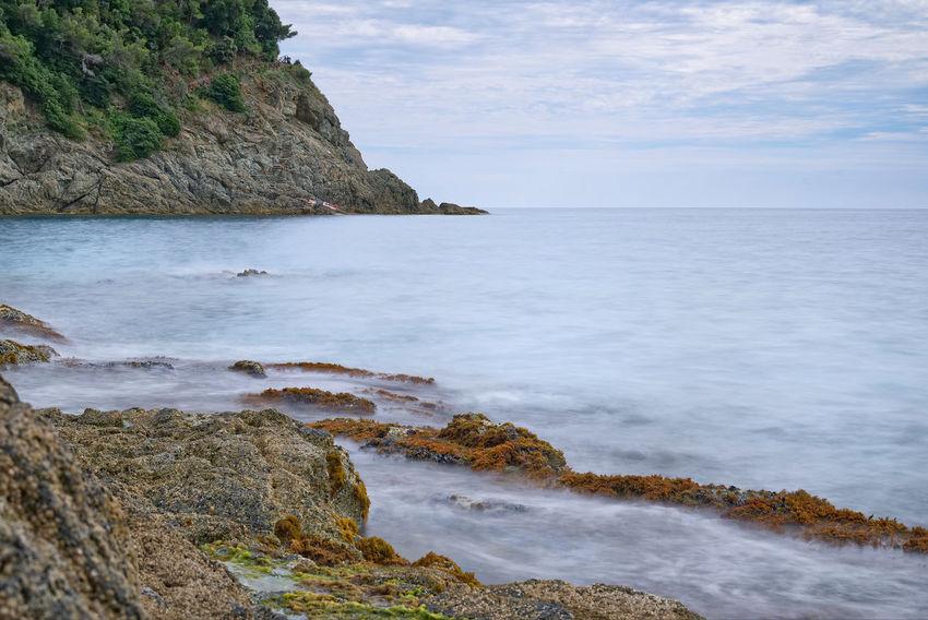 Bonassola coast - Ligurian sea - Long exposure Bonassola Formation Mediterranean  Rock Wave Bay Beauty In Nature Cloud - Sky Coast Day Land Liguria Long Exposure Nature No People Outdoors Rock Rock - Object Scenics - Nature Sea Sky Solid Tranquil Scene Tranquility Water
