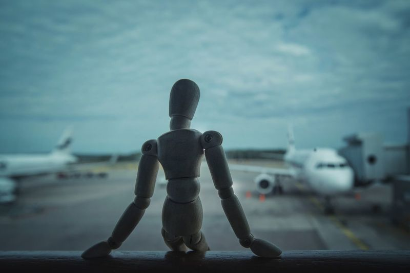 Waiting for boarding Airplane Transportation Air Vehicle Mode Of Transport No People Airport Airport Runway Creativity Woodyforest Vantaa Technology Connected By Travel Be. Ready.