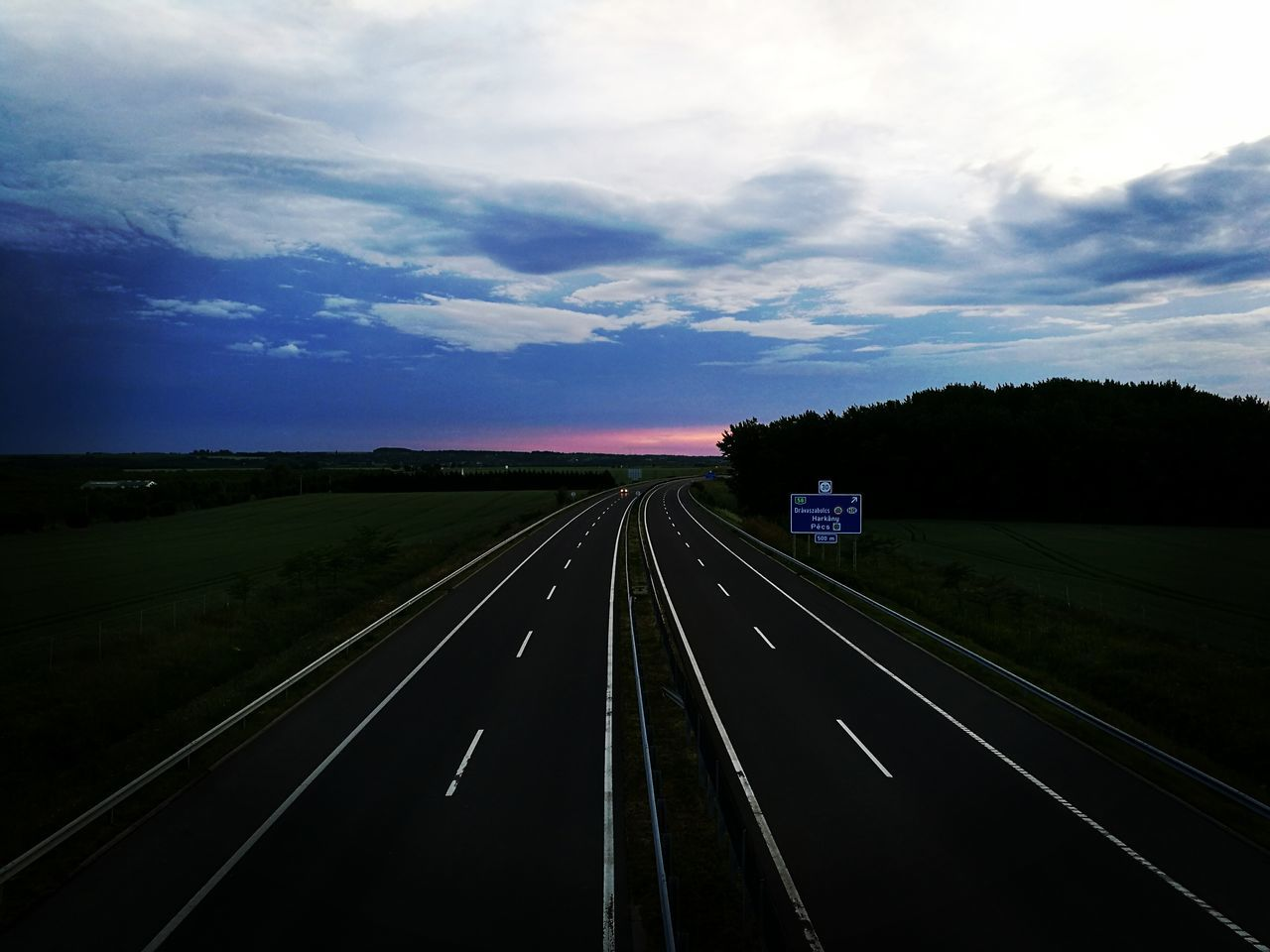 road, transportation, the way forward, road marking, sky, highway, landscape, cloud - sky, no people, scenics, nature, outdoors, day