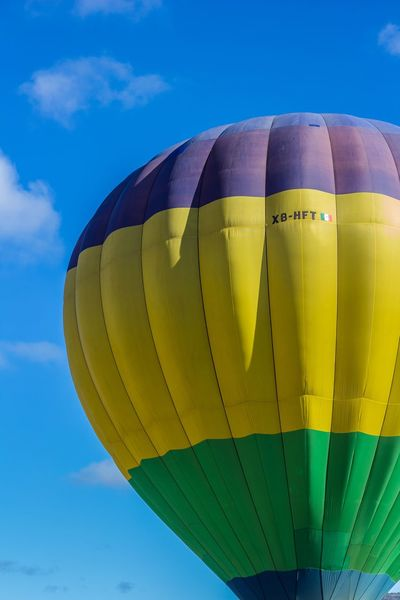 Globo Aerostático Sky Nature Blue Hot Air Balloon Yellow Multi Colored Balloon Inflatable  Sphere Adventure Air Vehicle Close-up Cloud - Sky Flying