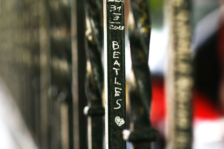 Abbey Road Abbey Road Studios Fence Focus On Foreground In A Row The Beatles The Beatles <3  Wrought Iron