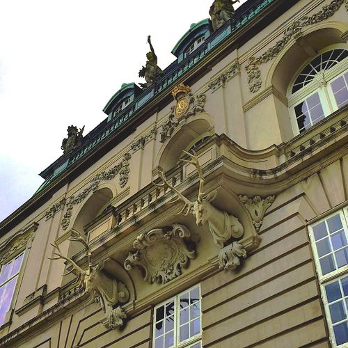 The most beautiful balcony on the Erimitage Castle in Copenhagen Architecture Low Angle View Arch History Tourism Copenhagen Erimitage Balcony