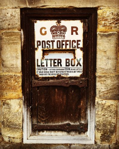 Wooden post box Kent England Penhurst Post Box  Text Communication Day Outdoors Building Exterior No People Wood - Material Close-up Built Structure Architecture