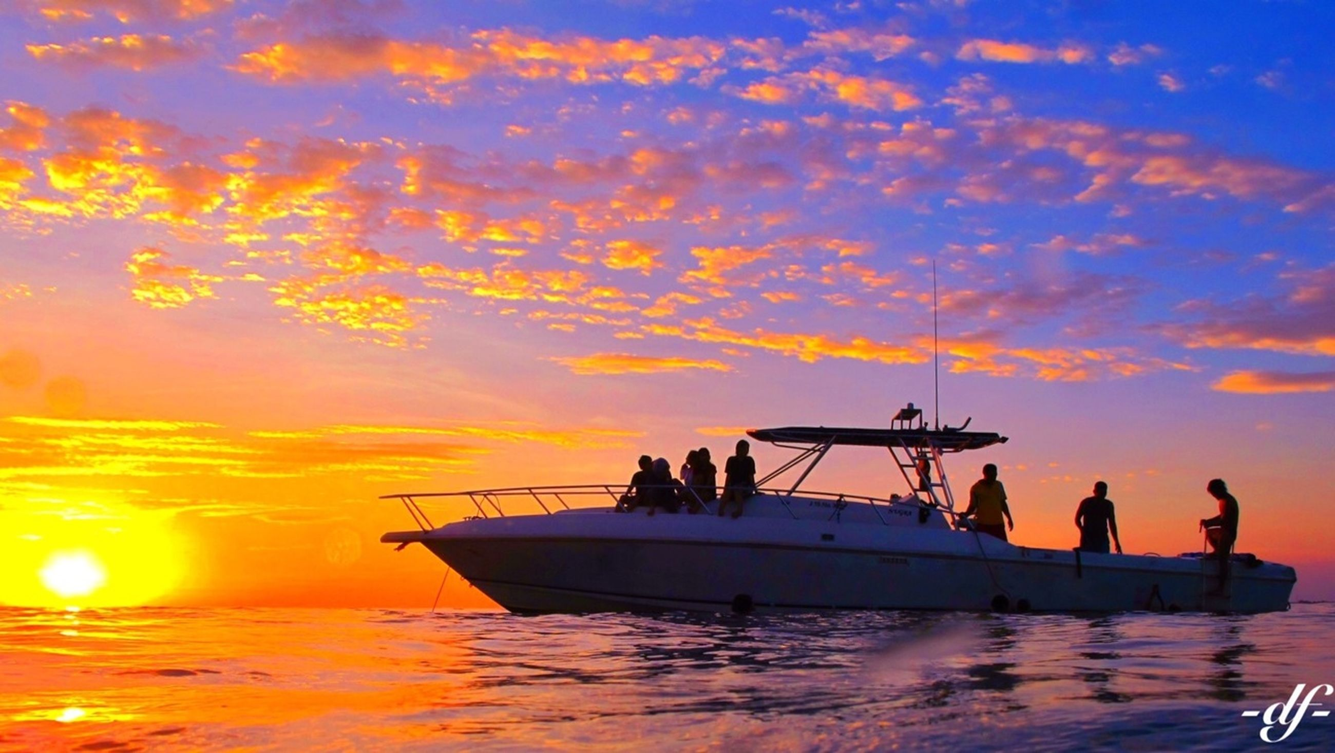sunset, water, silhouette, orange color, sky, nautical vessel, transportation, waterfront, sea, boat, mode of transport, cloud - sky, reflection, beauty in nature, scenics, nature, tranquility, tranquil scene, men