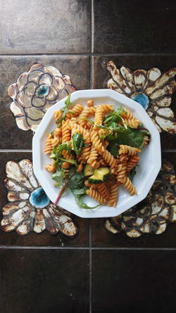 Abundance Arrangement Close-up Day Elevated View Food Freshness Fusilli Inside Interior Modern Nature No People Pasta Plate Retro Rucola Still Life Urban Variation Oslo