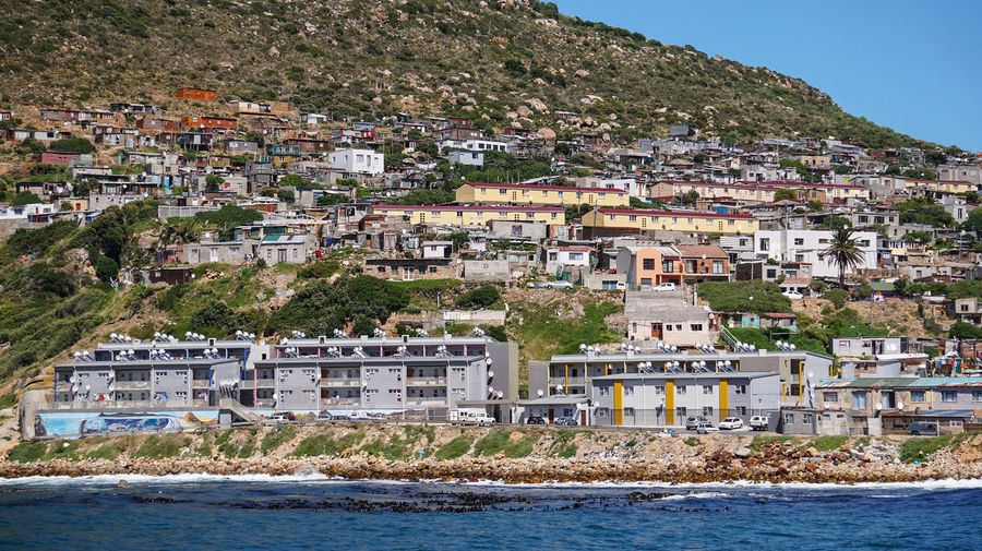 Township of south africa in beach mountai  landscape
