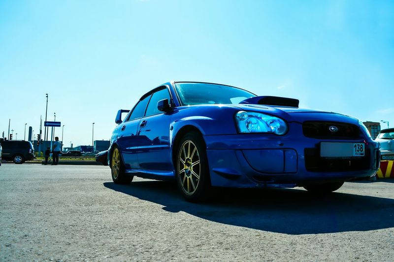 Subaru Subaru Impreza Wrx STi Impreza No People Street Car Automotive Photography Jdm Blue